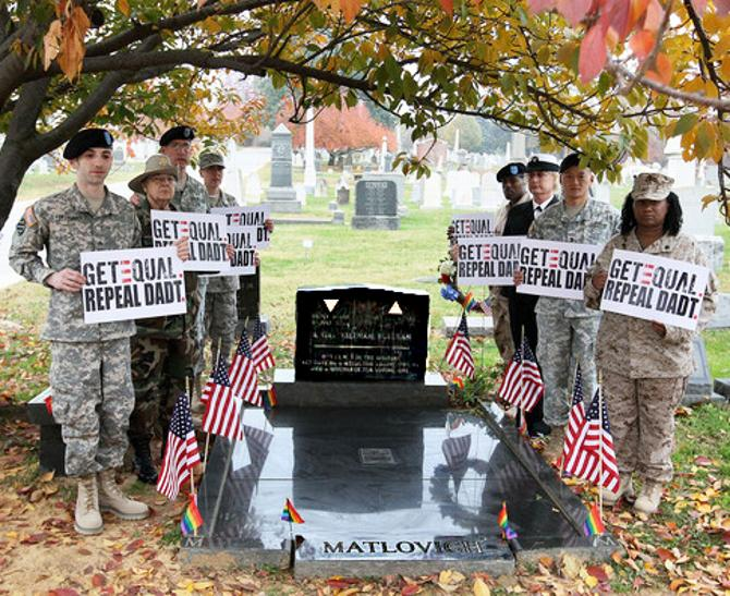 "DADT GetEQUAL Matlovich ""Congressional Cemetery"""